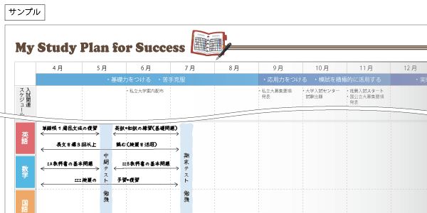 My Study Plan for Success サンプル